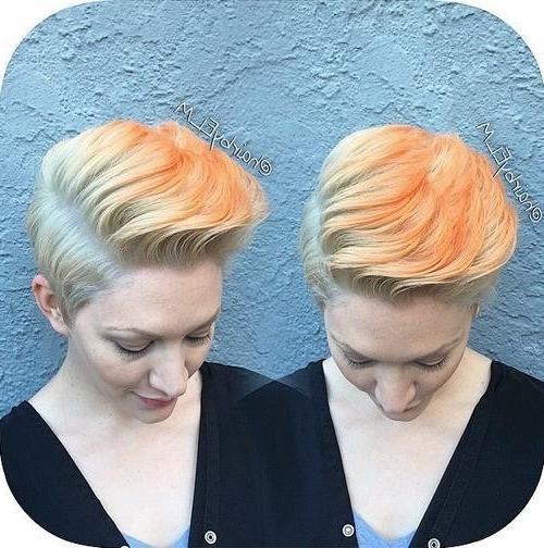 22 Best Colorful Ways To Enhance Your Pixie Haircut: 2017 Short Hair Pertaining To Most Current Piece Y Pixie Haircuts With Subtle Balayage (View 15 of 25)