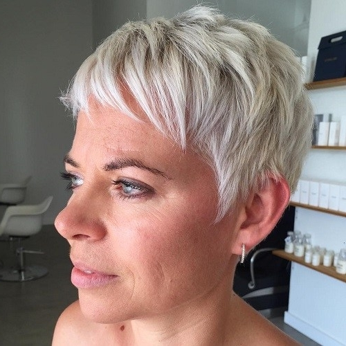 22 Best Colorful Ways To Enhance Your Pixie Haircut: 2017 Short Hair Throughout Best And Newest Gray Blonde Pixie Hairstyles (View 13 of 25)