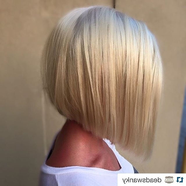 22 Chic A Line Bob Hairstyles – Hairstyles Weekly Pertaining To Classic Blonde Bob With A Modern Twist (View 5 of 25)