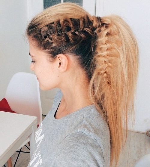 22 Cute Ponytails For Long & Medium Length Hair – Straight, Messy Regarding Honey Blonde Fishtail Look Ponytail Hairstyles (View 16 of 25)