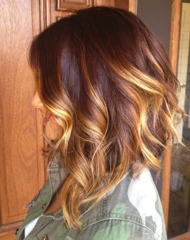 22 Fabulous Bob Hairstyles For Medium & Thick Hair – Pretty Designs With Curly Caramel Blonde Bob Hairstyles (View 6 of 25)