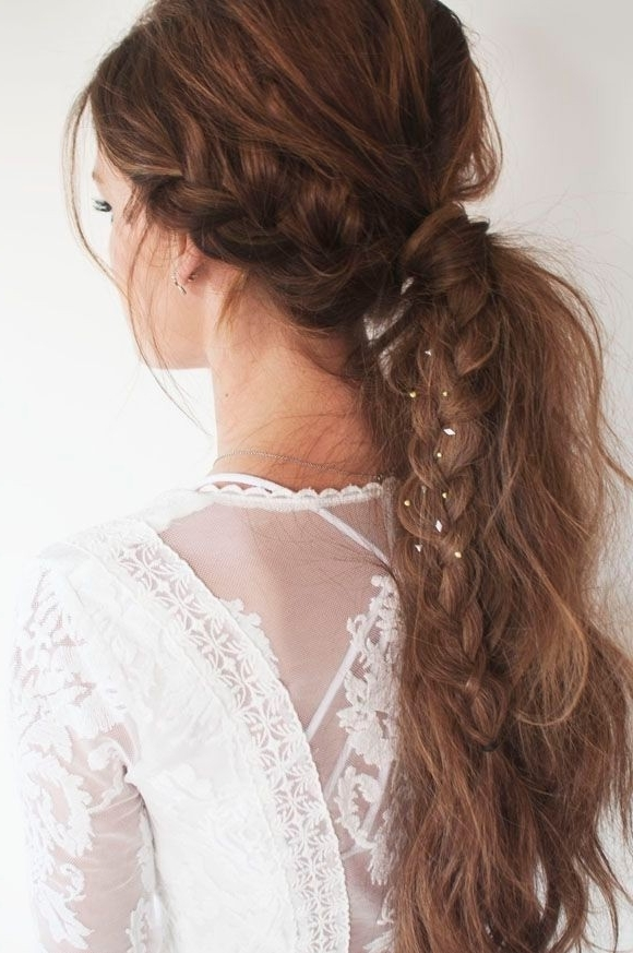 22 Great Ponytail Hairstyles For Girls – Pretty Designs For Pony Hairstyles With Textured Braid (View 10 of 25)