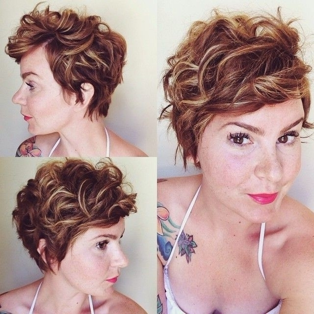 22 Great Short Haircuts For Thick Hair – Pretty Designs Pertaining To Recent Long Curly Pixie Hairstyles (View 15 of 25)