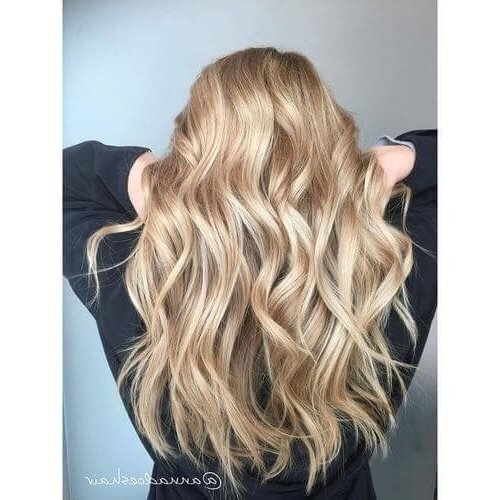 22 Greatest Blonde Hair Colors In 2018: Honey, Dirty, Ash & Platinum Throughout Creamy Blonde Waves With Bangs (View 7 of 25)
