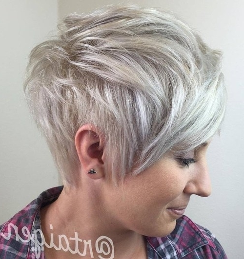 22 Hottest Easy Short Haircuts For Women – Pretty Designs Within Short Silver Crop Blonde Hairstyles (View 6 of 25)