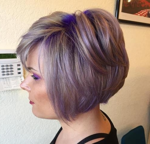 22 Sassy Purple Highlighted Hairstyles (For Short, Medium, Long Hair Inside Blonde Bob Hairstyles With Lavender Tint (View 14 of 25)