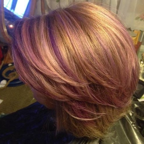 22 Sassy Purple Highlighted Hairstyles (For Short, Medium, Long Hair Regarding Blonde Bob Hairstyles With Lavender Tint (View 12 of 25)