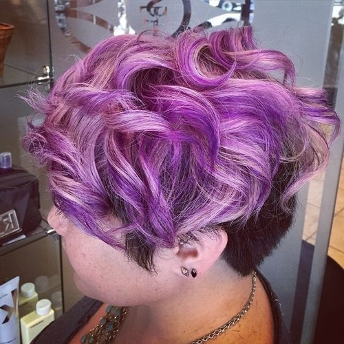 22 Sassy Purple Highlighted Hairstyles (For Short, Medium, Long Hair With Blonde Bob Hairstyles With Lavender Tint (View 21 of 25)