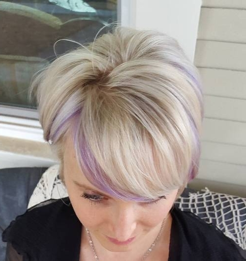 22 Sassy Purple Highlighted Hairstyles (For Short, Medium, Long Hair With Blonde Bob Hairstyles With Lavender Tint (View 10 of 25)
