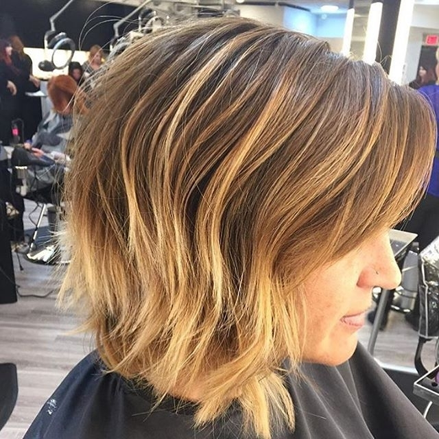 22 Tousled Bob Hairstyles – Popular Haircuts With Tousled Shoulder Length Ombre Blonde Hairstyles (View 6 of 25)