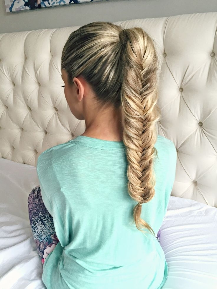 2262 Best Hairstyles Images On Pinterest | Hairstyle Ideas, Hair Intended For Chunky Ponytail Fishtail Braid Hairstyles (View 10 of 25)