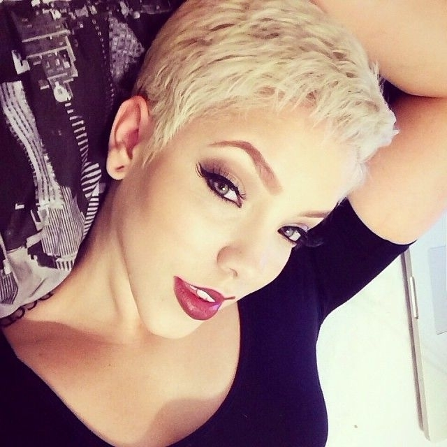 23 Chic Pixie Cut Ideas – Popular Short Hairstyles For Women In Newest Platinum Blonde Disheveled Pixie Hairstyles (View 10 of 25)