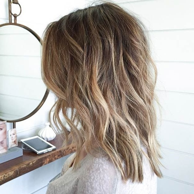 23 Cute Bob Haircuts & Styles For Thick Hair: Short, Shoulder Length For Long Bob Blonde Hairstyles With Lowlights (View 6 of 25)