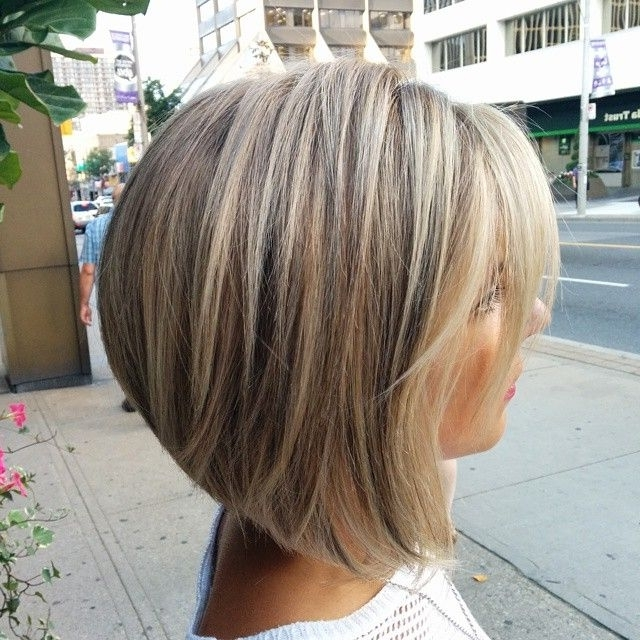 23 Cute Bob Haircuts & Styles For Thick Hair: Short, Shoulder Length Throughout Long Bob Blonde Hairstyles With Lowlights (View 14 of 25)