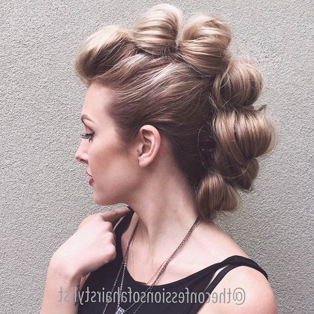 23 Faux Hawk Hairstyles For Women | Stayglam Hairstyles | Pinterest For Braided Ponytail Mohawk Hairstyles (View 3 of 25)