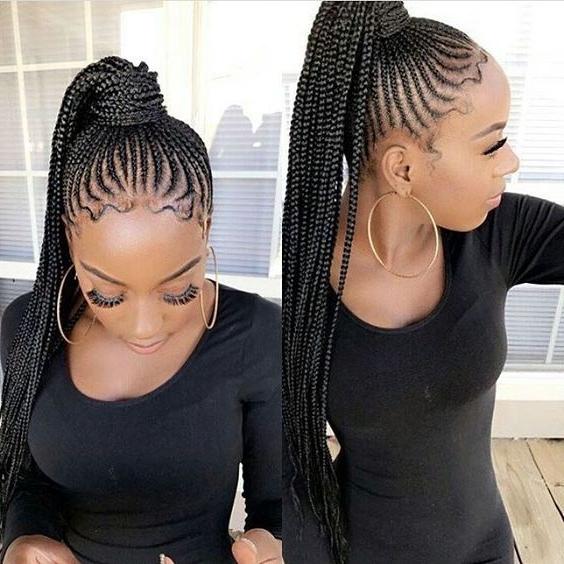 23 Renewed Goddess Braids Ponytail Hairstyles In Long Braided Ponytail Hairstyles (View 5 of 26)