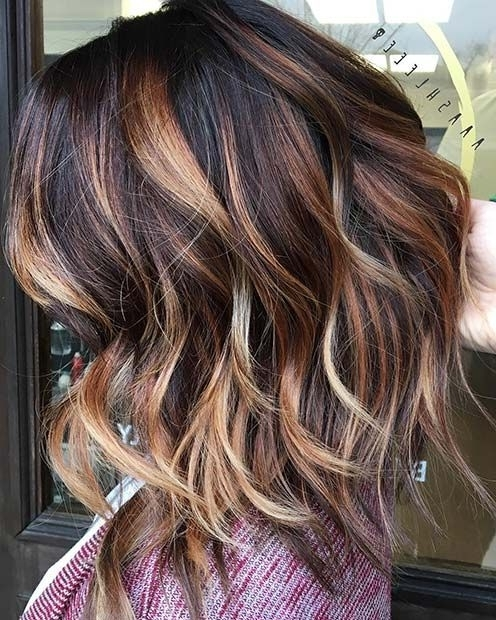 23 Stylish Lob Hairstyles For Fall And Winter | Stayglam Hairstyles Regarding Volumized Caramel Blonde Lob Hairstyles (View 3 of 25)