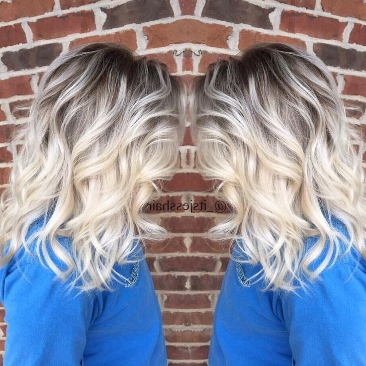 2313 Best Fashionista Images On Pinterest | Leather Booties, Ankle Pertaining To Dark Roots And Icy Cool Ends Blonde Hairstyles (View 3 of 25)