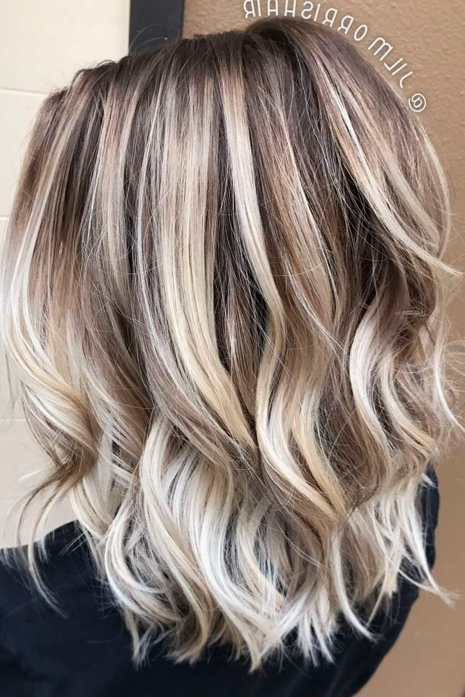 24 Easy New Medium Hair Styles | Hair | Pinterest | Trendy With Loose Curls Blonde With Streaks (View 7 of 25)