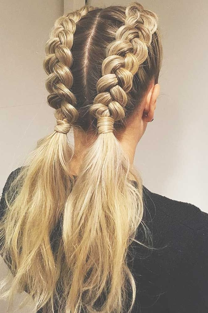 24 Ponytail Braid Brings In A Fresh Start | Pinterest | Ponytail Pertaining To Double Tied Pony Hairstyles (View 23 of 25)