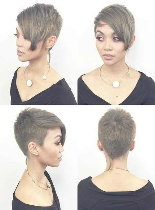 25 Amazing Short Pixie Haircuts & Long Pixie Cuts For Women 2017 Regarding Most Current Side Parted Silver Pixie Bob Hairstyles (View 22 of 25)