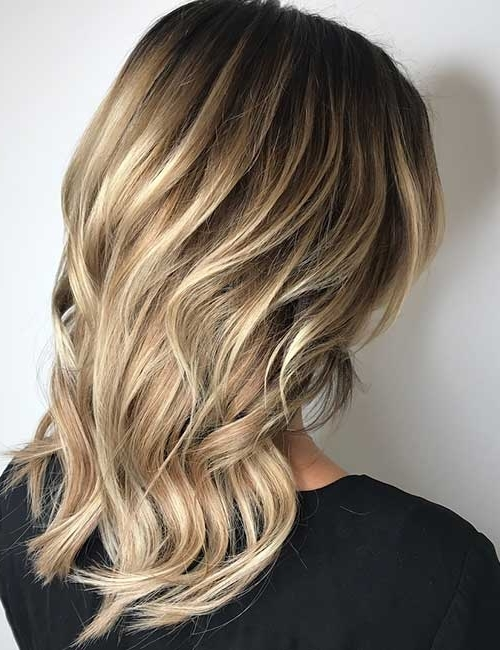25 Balayage Hairstyles For Black Hair Within Cool Dirty Blonde Balayage Hairstyles (View 1 of 25)