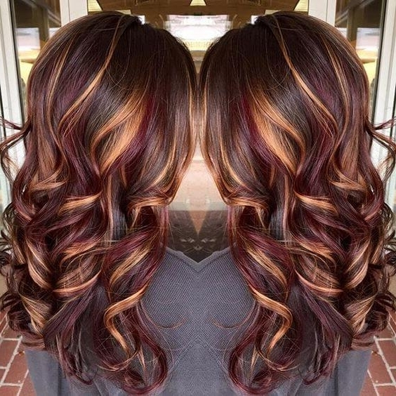 25 Best Hairstyle Ideas For Brown Hair With Highlights – Belletag Inside Maple Bronde Hairstyles With Highlights (View 5 of 25)