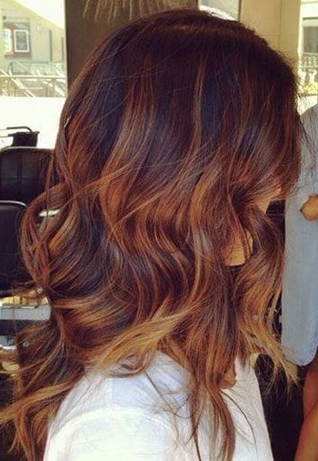 25 Best Hairstyle Ideas For Brown Hair With Highlights – Belletag Pertaining To Light Copper Hairstyles With Blonde Babylights (View 9 of 25)