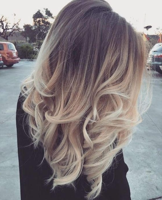 25 Best Hairstyle Ideas For Brown Hair With Highlights | Hairstyles With Tousled Shoulder Length Ombre Blonde Hairstyles (View 9 of 25)