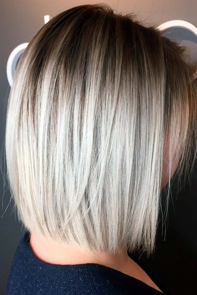 25 Chic And Trendy Styles For Modern Bob Haircuts For Fine Hair In Regarding Asymmetry Blonde Bob Hairstyles Enhanced By Color (View 7 of 25)