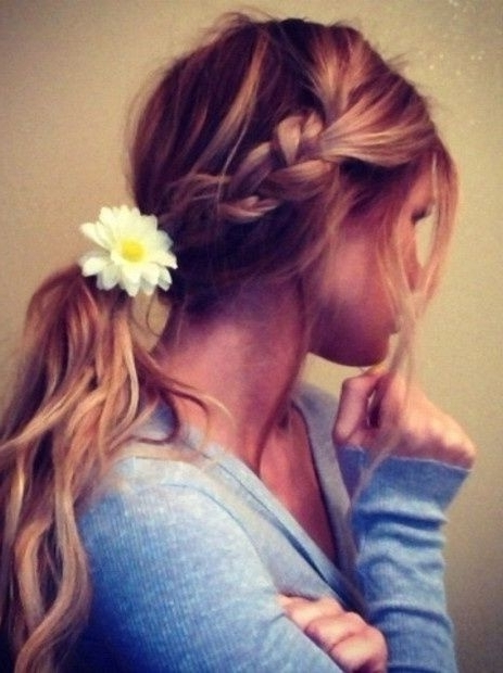 25 Chic Braided Hairstyles For Girls – Pretty Designs Throughout Braid Into Pony Hairstyles (View 3 of 25)