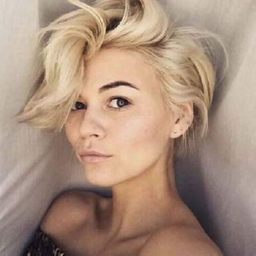 25 Chic Short Hairstyles For Thick Hair – The Trend Spotter Inside Newest Long Voluminous Pixie Hairstyles (View 18 of 25)