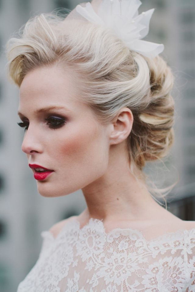 25 Classic And Beautiful Vintage Wedding Hairstyles – Haircuts Pertaining To Retro Glam Ponytail Hairstyles (View 6 of 25)