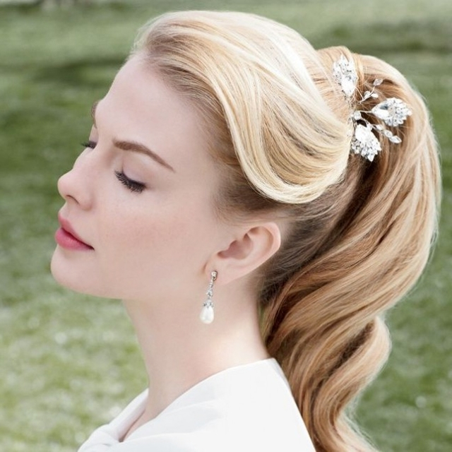 25 Classic And Beautiful Vintage Wedding Hairstyles – Haircuts Throughout Classic Bridesmaid Ponytail Hairstyles (View 5 of 25)