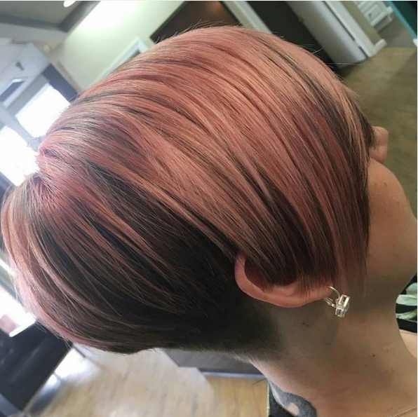 25 Cute Balayage Styles For Short Hair – Popular Haircuts Throughout Most Recently Disconnected Blonde Balayage Pixie Hairstyles (View 11 of 25)