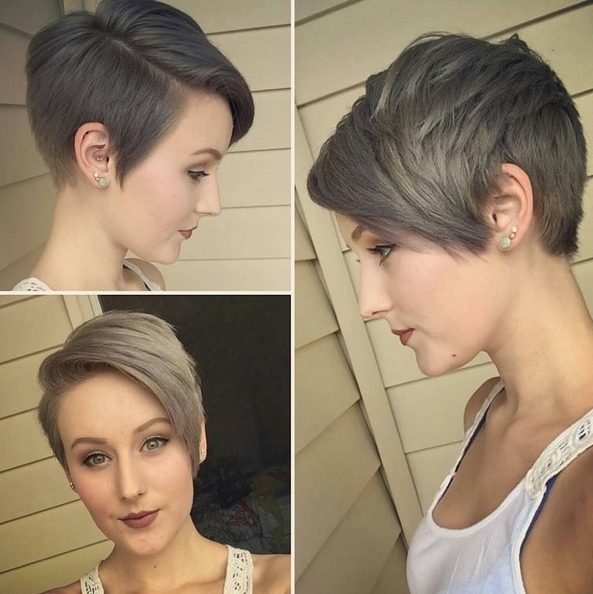 25 Cute Balayage Styles For Short Hair – Popular Haircuts With Best And Newest Undercut Blonde Pixie Hairstyles With Dark Roots (View 19 of 25)