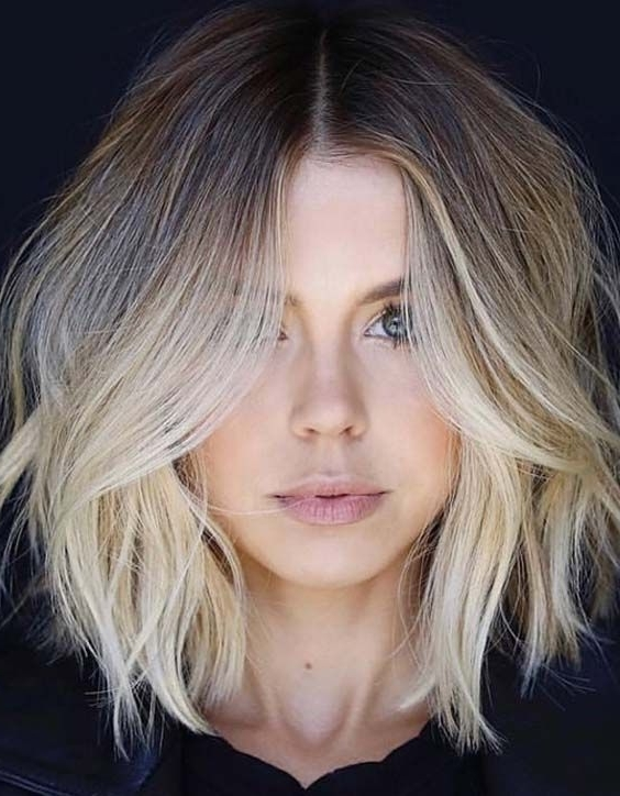 25 Cute Face Framing Balayage Lob Cuts For 2018 | Lob Cut, Balayage Within Dishwater Blonde Hairstyles With Face Frame (View 6 of 25)