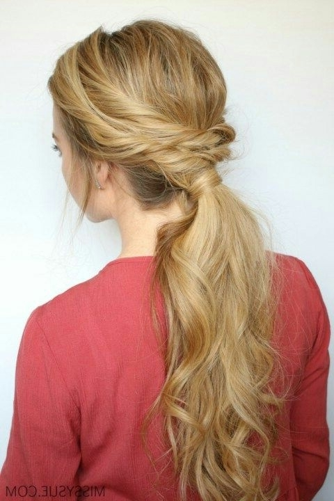 25 Easy Ponytail Hairstyles To Try This Summer || Tips For Perfect Pertaining To Fancy Sleek And Polished Pony Hairstyles (View 11 of 25)