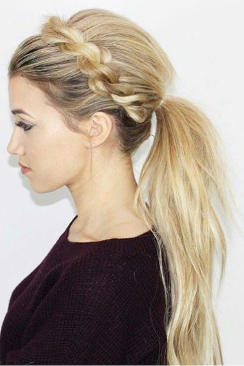 25 Easy Ponytail Hairstyles To Try This Summer || Tips For Perfect Throughout Fancy Sleek And Polished Pony Hairstyles (View 12 of 25)