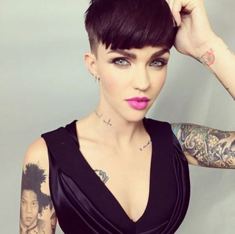 25 Edgy Pixie Undercut Ideas To Try Right Now! [August, 2018] For Current Undercut Blonde Pixie Hairstyles With Dark Roots (View 10 of 25)
