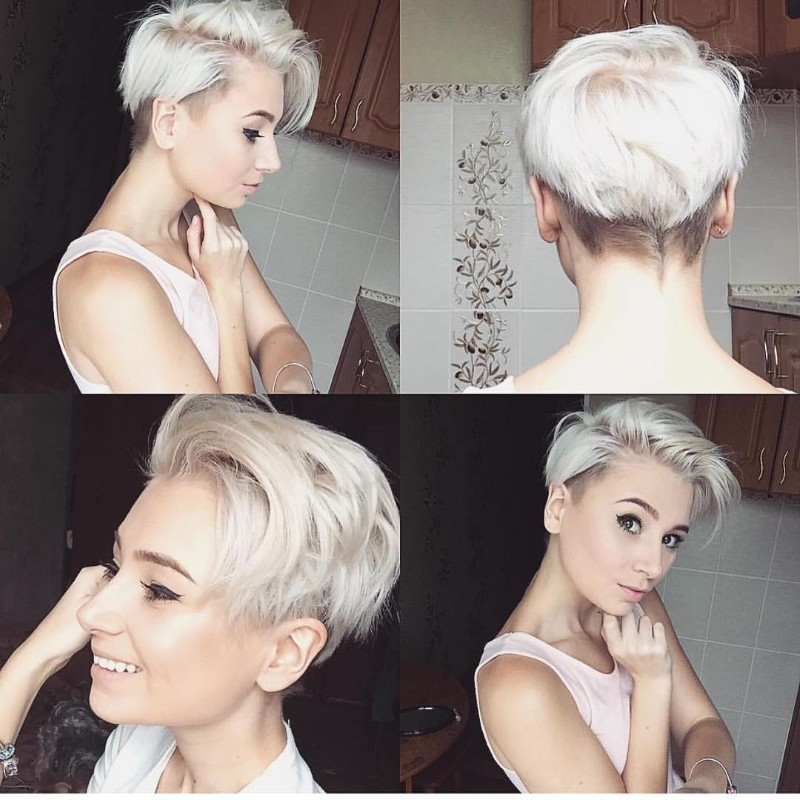 25 Edgy Pixie Undercut Ideas To Try Right Now! [August, 2018] For Latest Sassy Undercut Pixie Hairstyles With Bangs (View 8 of 25)