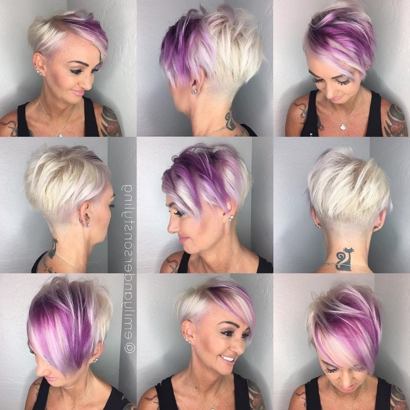 25 Edgy Pixie Undercut Ideas To Try Right Now! [August, 2018] With Regard To Platinum And Purple Pixie Blonde Hairstyles (View 4 of 25)