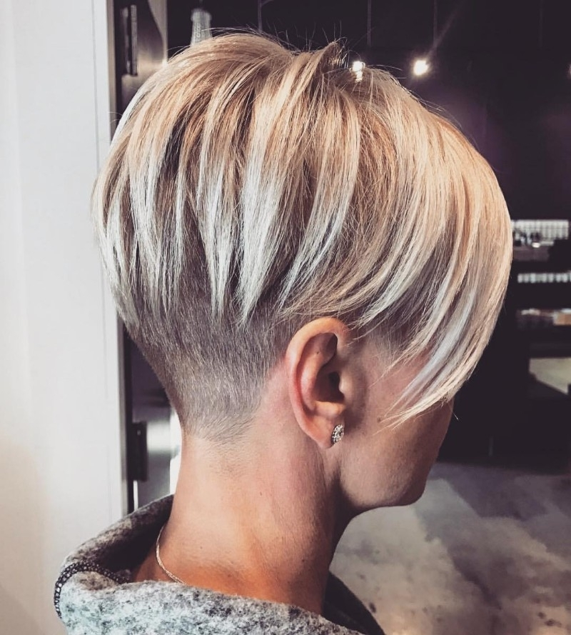 25 Edgy Pixie Undercut Ideas To Try Right Now! [August, 2018] Within Most Recently Finely Chopped Buttery Blonde Pixie Hairstyles (View 5 of 25)