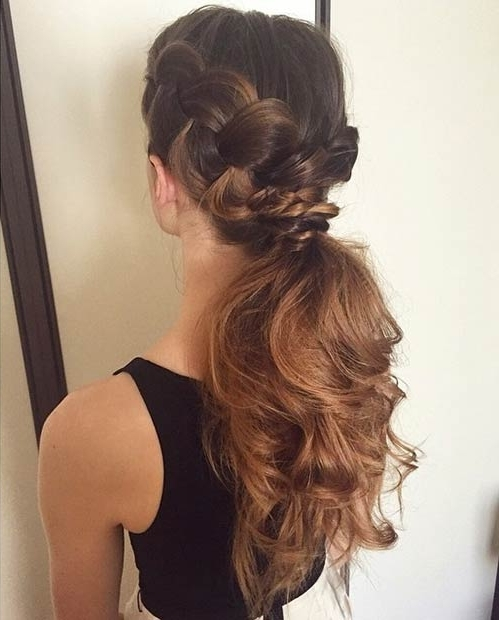 25 Elegant Ponytail Hairstyles For Special Occasions | Page 2 Of 3 In Messy Ponytail Hairstyles With Side Dutch Braid (View 22 of 25)