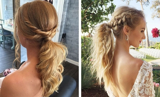25 Elegant Ponytail Hairstyles For Special Occasions | Stayglam Inside Messy Pony Hairstyles For Medium Hair With Bangs (View 4 of 25)