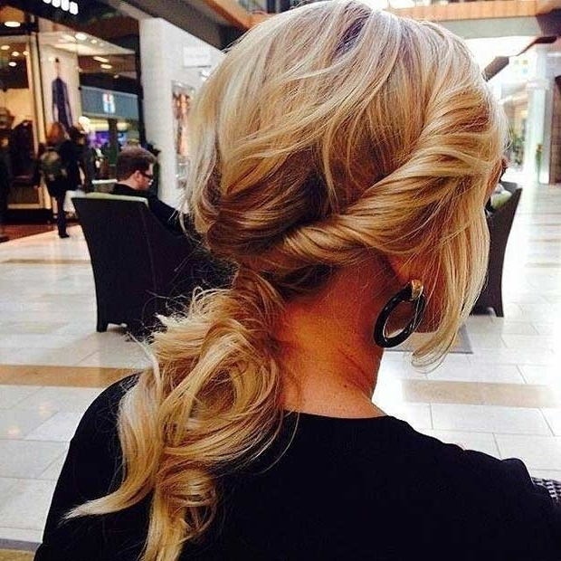 25 Elegant Ponytail Hairstyles For Special Occasions   Stayglam Throughout Twisted And Tousled Ponytail Hairstyles (View 7 of 25)
