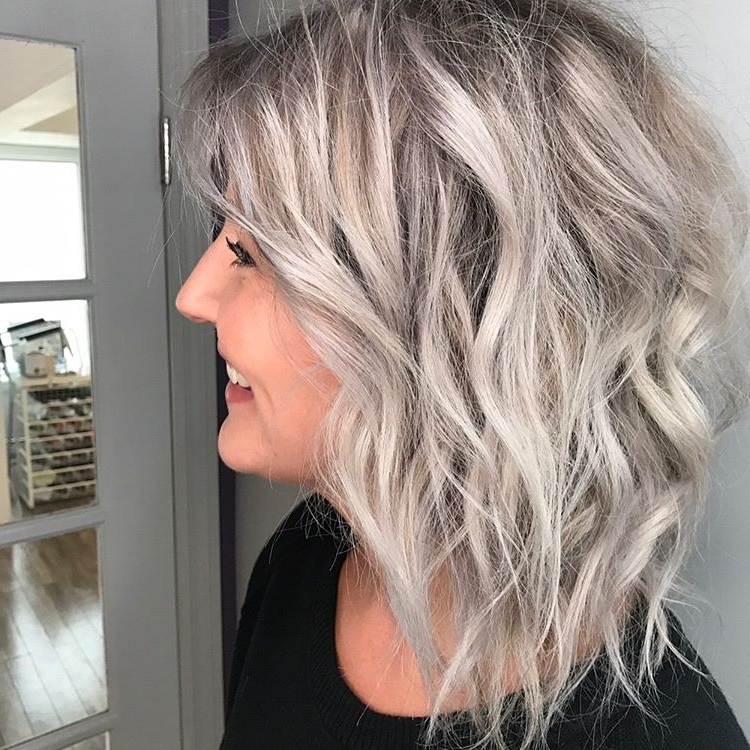 25 Exciting Medium Length Layered Haircuts – Popular Haircuts For Tousled Shoulder Length Ombre Blonde Hairstyles (View 14 of 25)