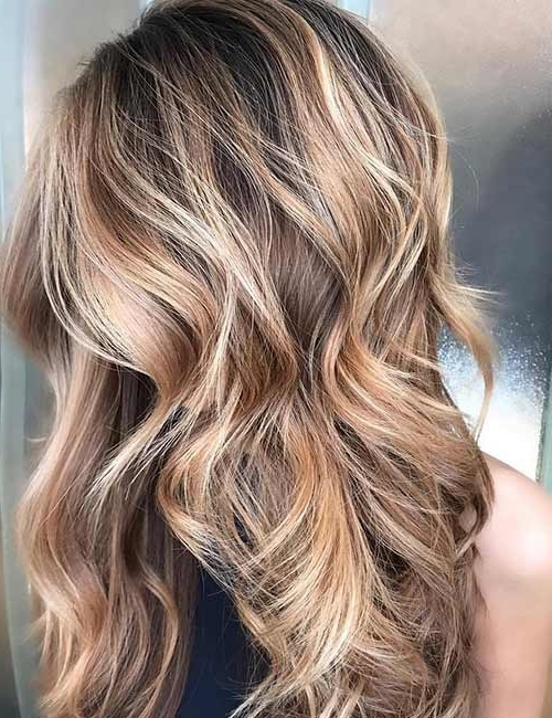 25 Gorgeous Highlight Ideas For Dark Hair Inside Brown Sugar Blonde Hairstyles (View 11 of 25)