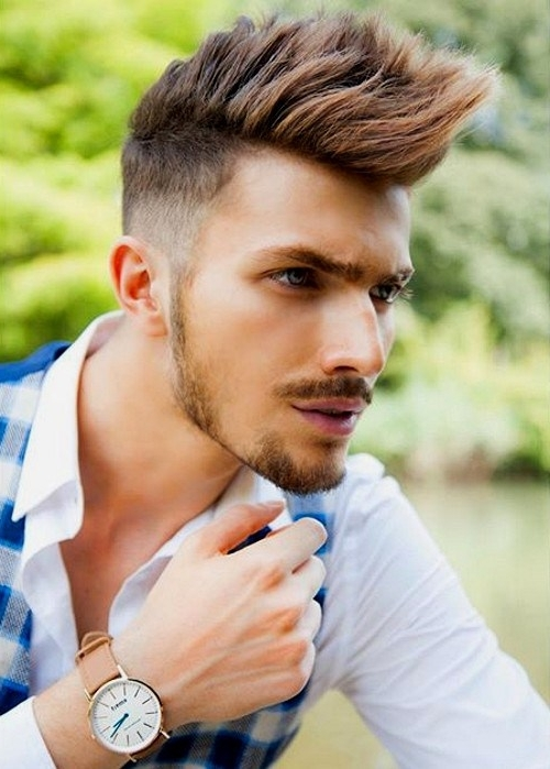 25 Hottest Faux Hawk Hairstyles For Men – Pretty Designs For Two Tone High Ponytail Hairstyles With A Fauxhawk (View 25 of 25)