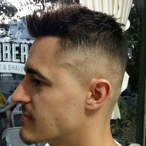 25 Hottest Faux Hawk Hairstyles For Men – Pretty Designs With Two Tone High Ponytail Hairstyles With A Fauxhawk (View 8 of 25)